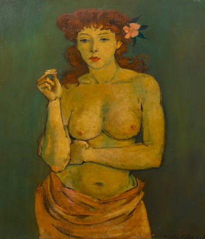 Nicolai Cikovsky (Russian, 1894-1987) Auburn-haired beauty