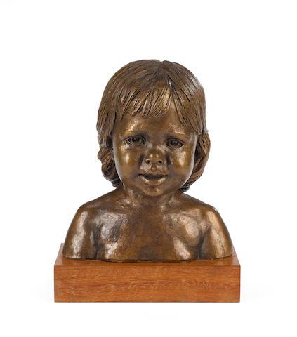 Barbara Tribe (Australian, 1913-2000) Gizelle 33cm(13in)(height,including base)