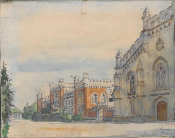Alexandre Nikolaevich Benois (Russian, 1870-1960) 'Peterhof'