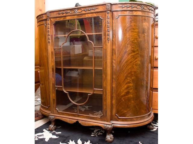A 1920's mahogany low display cabinet,
