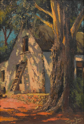 (n/a) Marthinus (Tinus) Johannes de Jongh (South African, 1885-1942) A Cape farmhouse