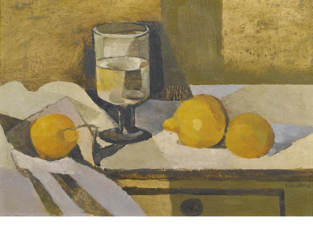 Keith Vaughan (British, 1912-1977) Still Life 25.5 x 36.5 cm. (10 x 14 3/8 in.)