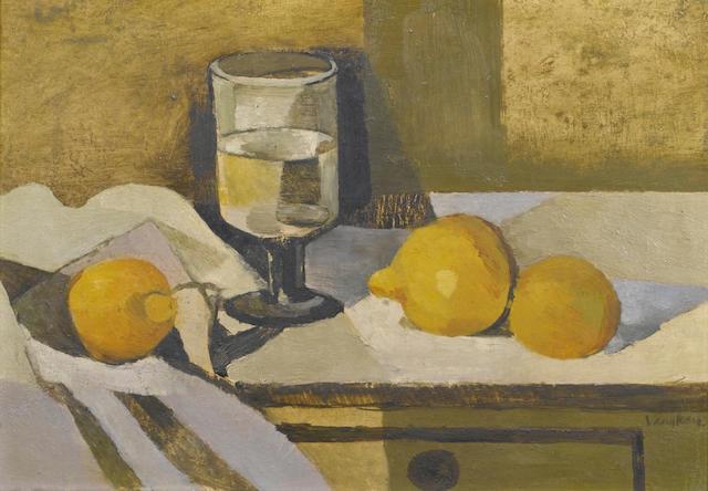 Keith Vaughan (British, 1912-1977) Still Life 25.5 x 36.5 cm. (10 x 14 3/8 in.)
