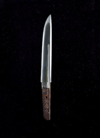 A shinshinto tanto blade in aikuchi mounts Late Edo Period