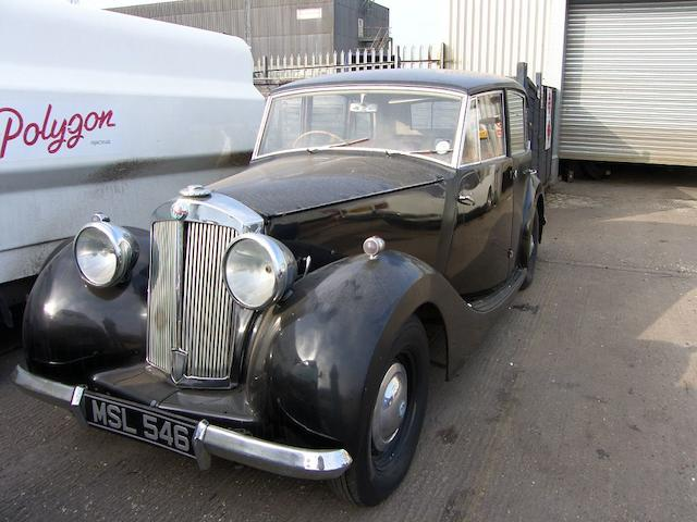 1947 Triumph 1800 Saloon  Chassis no. TD702OL Engine no. TD739E