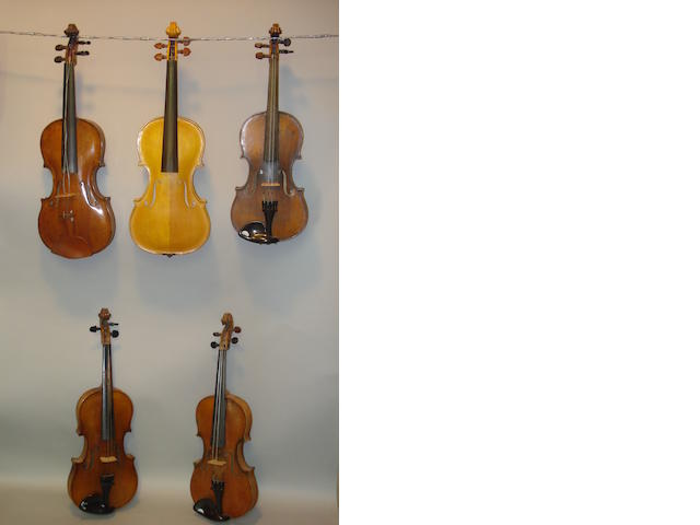 A Violin by John G.Monkman, Jersey, 1989 (5)