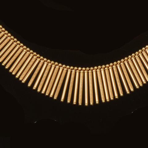 A necklace and bracelet suite