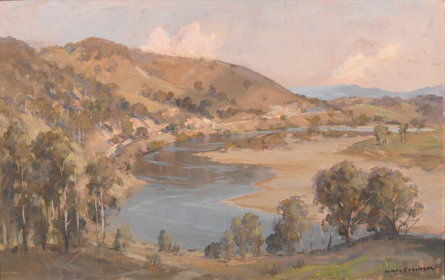 James Ranalph Jackson (Australian, 1882-1975) The river valley, Australia