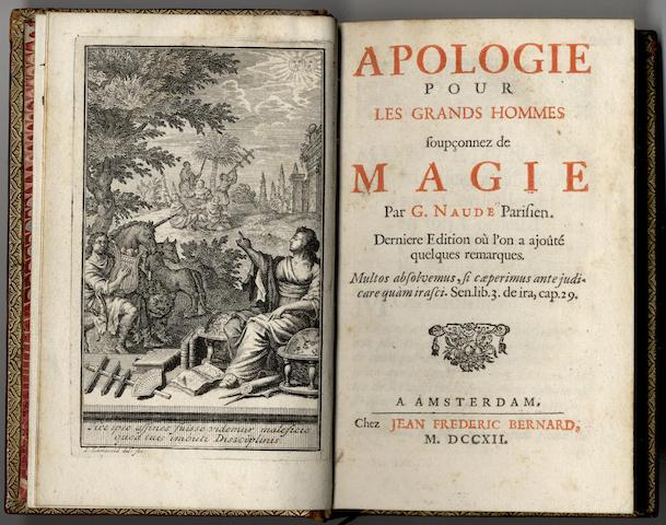 NAUDE (GABRIEL) Apologie pour les grands hommes soupçonnez de magie