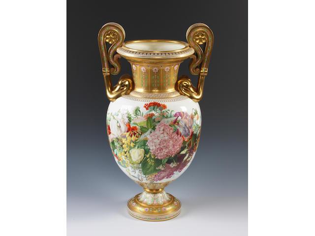 An important Copeland vase by C. F. Hürten
