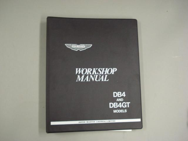 An Aston Martin DB4/DB4GT workshop manual,