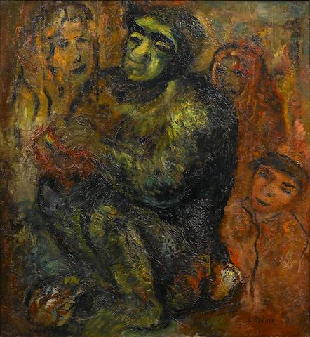 Issachar Ber Ryback (Russian, 1897-1937) Gathering around