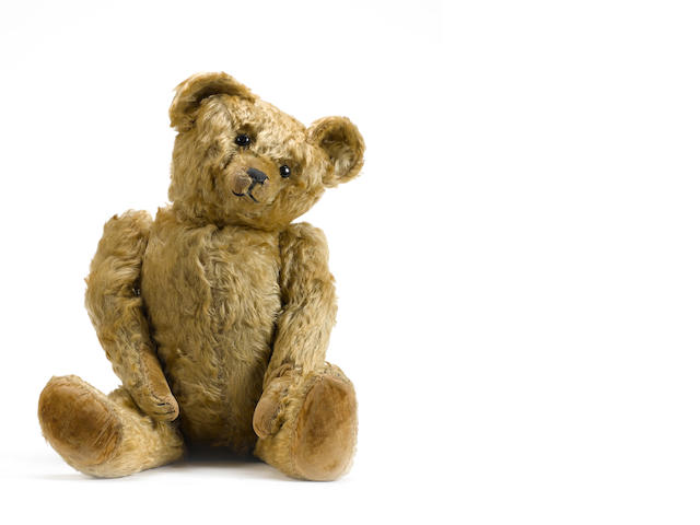 Early English brown mohair Teddy bear, circa 1920