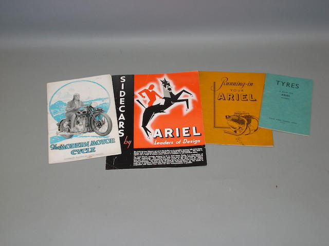 Ariel - a selection of brochures,