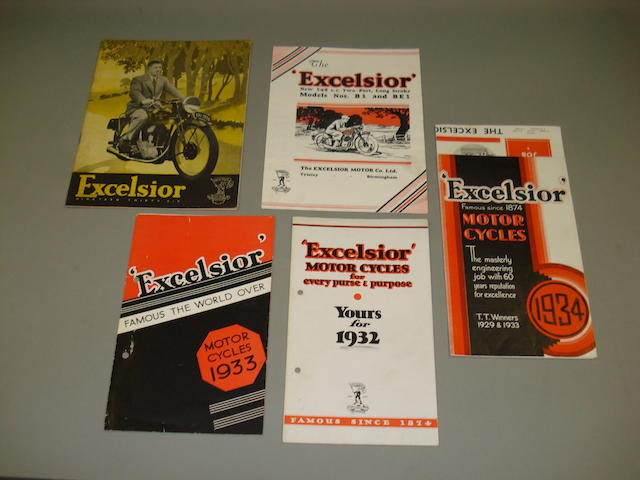 Excelsior sales brochures dating from the 1930s,