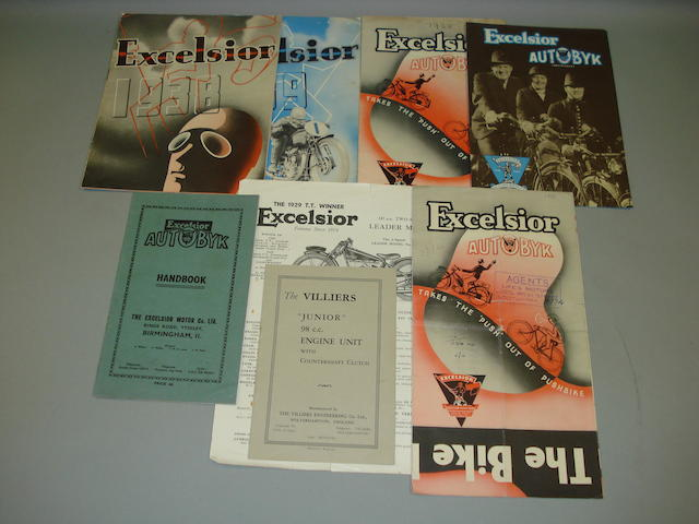 Excelsior - various sales brochures dating from the 1930s,