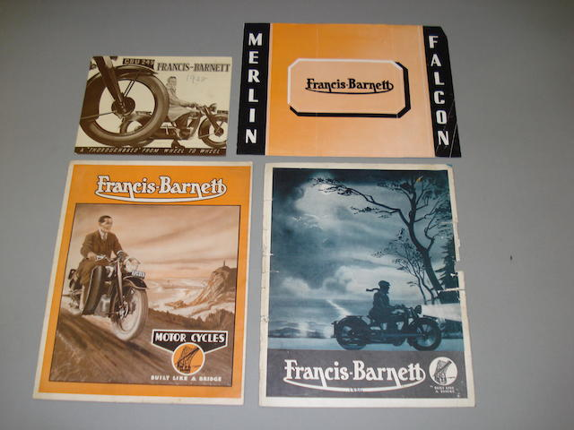 Francis Barnett sales brochures dating from the 1930s,