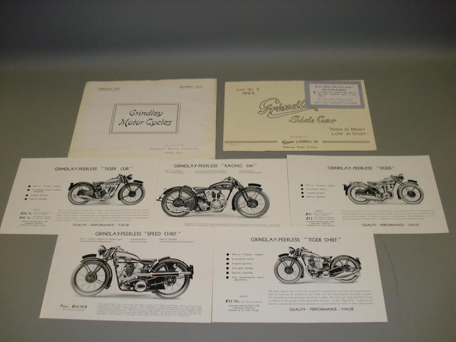 Grindlay-Peerless sales brochures dating from the 1930s,