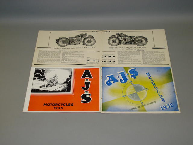 AJS brochures from the 1930s,