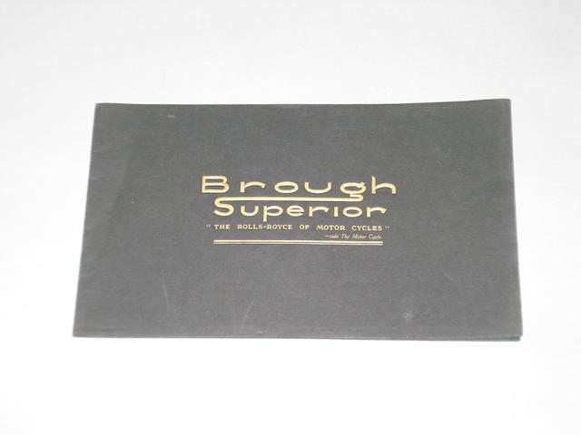 A 1937 Brough Superior range brochure,