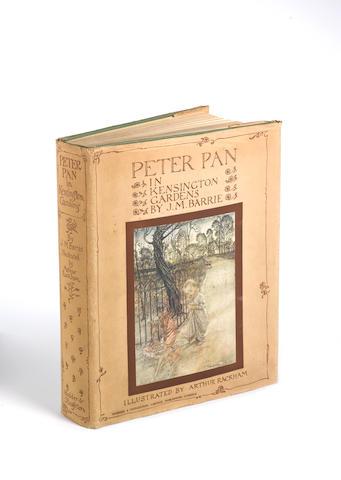 RACKHAM (ARTHUR) BARRIE (J.M.) Peter Pan in Kensington Gardens