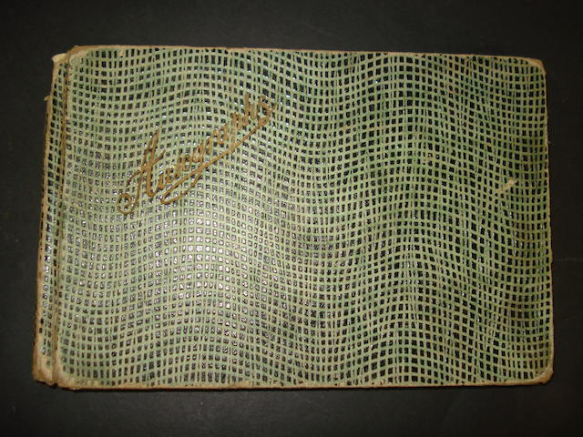 Late 1940s football teams autograph Book