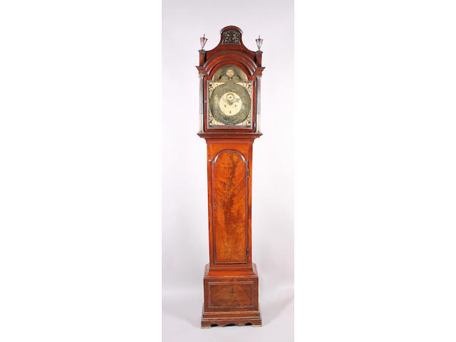 A George III Irish figured mahogany longcase clock, by Thomas Blundell, Dublin