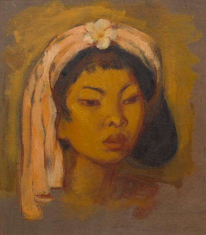 Theo Meier (Swiss, 1908-1982) Portrait of Djuplik, a young Balinese woman