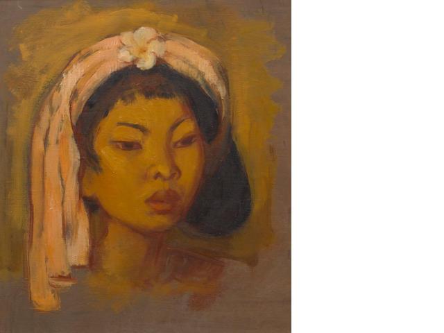 Theo Meier (Swiss, 1908-1982) Portrait of Djuplik, a young Balinese woman