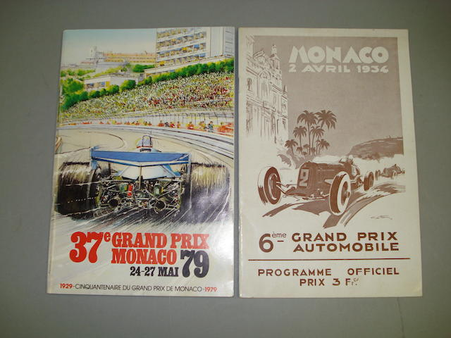 An original official programme for the Monaco Grand Prix, 1934,