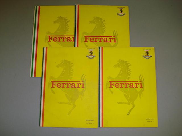 Four original Ferrari Owner's Club magazines,