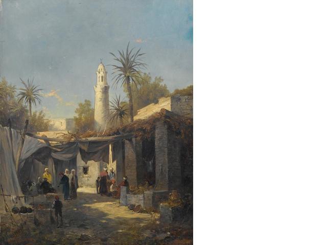 Josef Thoma Jnr. (Austrian, 1828-1899) A pair of Constaninople street scenes each