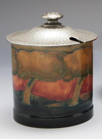 'Eventide Landscape' a Moorcroft preserve pot