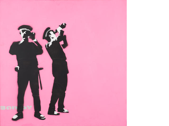 Banksy 'Avon and Somerset Constabulary' pink