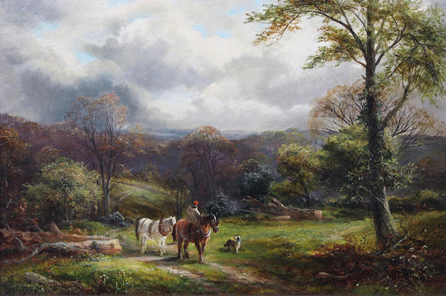 George Turner (British, 1843-1910) 'Near Knowle Hills, Derbyshire' 31 x 46cm.