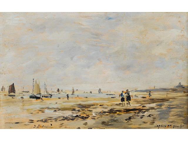 Eugène Louis Boudin (French, 1824-1898) 'Cayeux, Le Rivage'