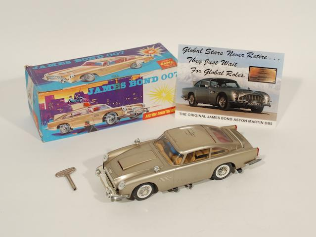A model of James Bond Aston Martin DB5,