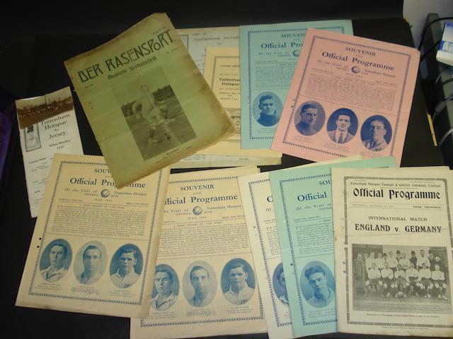 Tottenham Hotspurs 1920/30s programmes