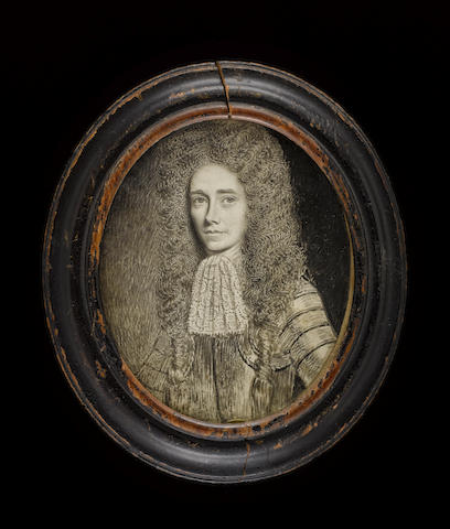 (n/a) David Paton (Scottish, active 1660-1695) Robert Craig of Bickerton, wearing armour, lace jabot and full-bottomed curled and knotted wig