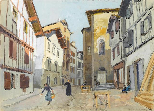 Alexandre Nikolaevich Benois (Russian, 1870-1960) La maison où est né Maurice Ravel, Ciboure