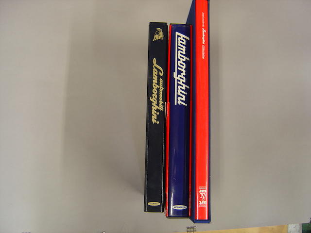 Three Lamborghini motoring books,