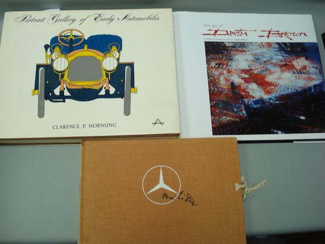 A lot of motoring art literature,