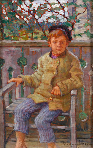 Nikolai Petrovich Bogdanov-Bel'sky (Russian, 1868-1945) Little boy on a chair