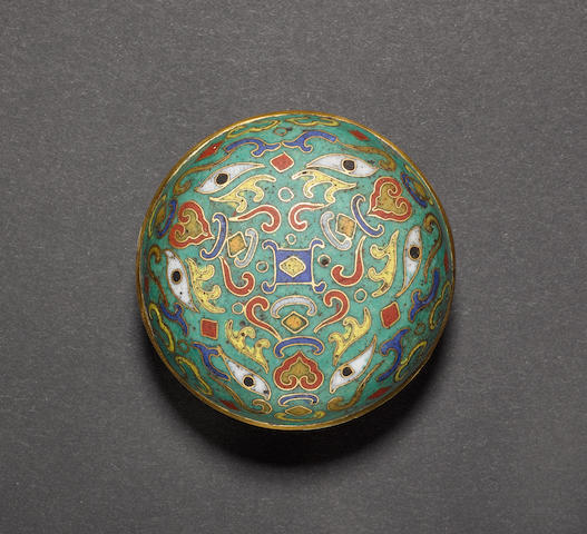 A cloisonne enamel box and cover Six-character Nien-hao of The Qianlong Emperor, and of The Period