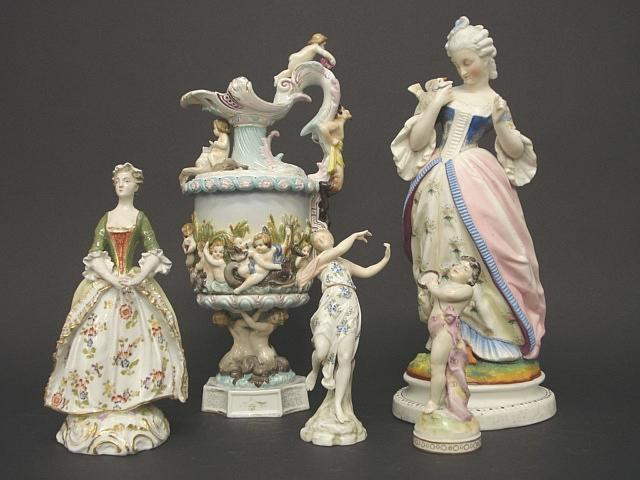 A collection of various continental figures