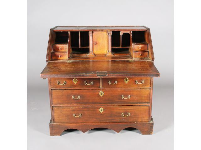 An early/mid-18th Century 'red walnut' bureau