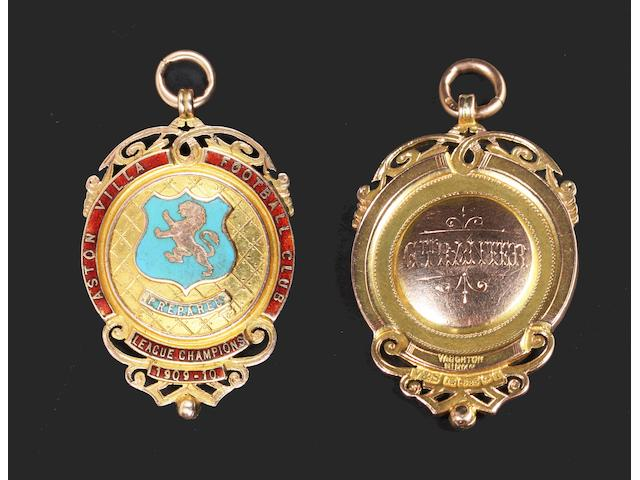 1909/10 Football League Champions medal awarded to G.Tranter of Aston Villa