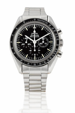 Omega. A very rare stainless steel manual wind chronograph limited edition wristwatchSpeedmaster, Limited edition 0439/2000, Circa 1989