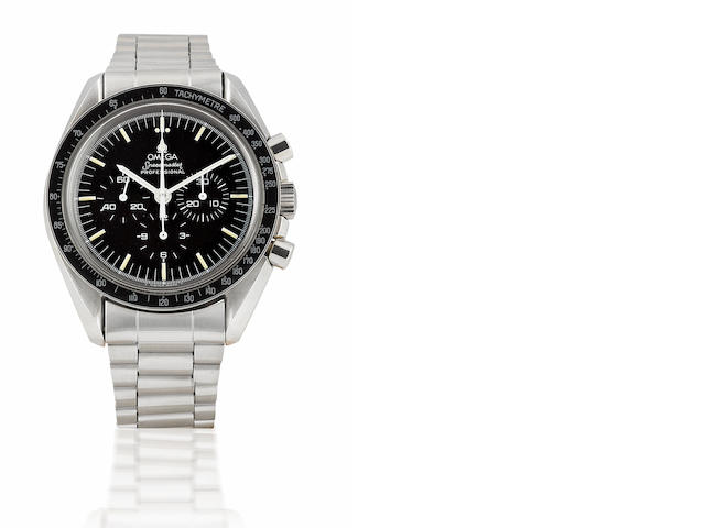 Omega. A very rare stainless steel manual wind chronograph limited edition wristwatch Speedmaster, Limited edition 0439/2000, Circa 1989