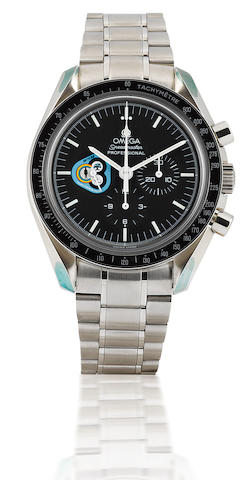 Omega. A very rare stainless steel manual wind chronograph limited production wristwatch Speedmaster Mission series, Skylab, Circa 1998